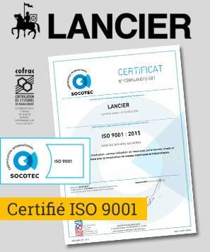 Certifié ISO 9001